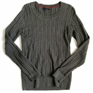 Tommy Hilfiger Grey Cable Knit Sweater